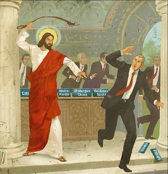 jesus chasse les changeurs