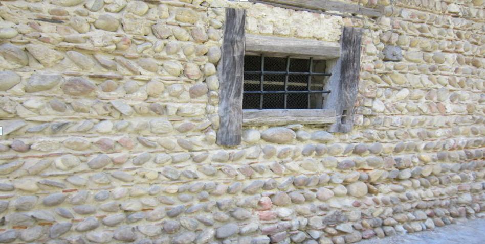 Les murs en galets